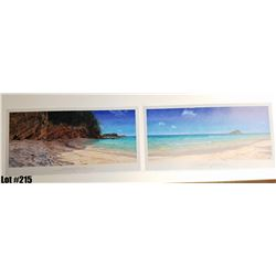 """Qty 4 Sets """"Koki Beach"""" by Bill Braden, Triptych, $100 Retail, 25"""" x 13"""" each panel. There are 3 pan"""