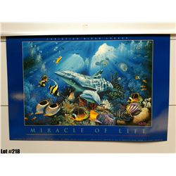 """Qty 5 """"Miracle of Life"""" by Christian Lassen, Paper, 24X16"""