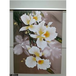 """Qty 2 """"White Orchids"""" by David Lee, Paper, 18X24"""