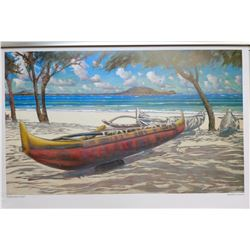"""Qty 3 """"Kailua Beach Park"""" by Russell Lowery, Paper, 36X24"""