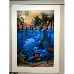 """Qty 2 """"The Lagoon"""" by David Miller, Off-Set Lithograph, 27 X 39, Signed/Numbered (410 & 413 of 450)"""
