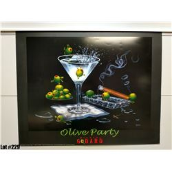 """Qty 5 """"Olive Party"""" by Michael Godard, Paper, 30 x 24"""