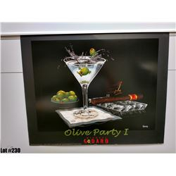 "Qty 5 ""Olive Party 1"" by Michael Godard, Paper, 30 x 24"