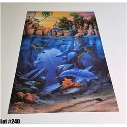 "Qty 3 ""The Lagoon"" by David Miller, Off-Set Lithograph, 27 X 39, Signed/Numbered (396, 397, 401 of 4"