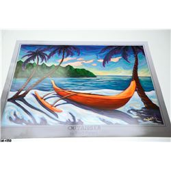 """""""Outrigger"""" by Fred Peters, Paper, 36 x 24"""