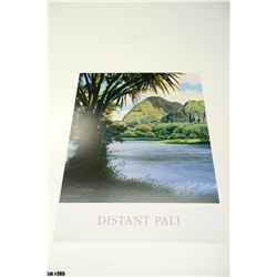 """""""Distant Pali"""" by Gary Reed, Paper, 19X25, Signed by artist"""