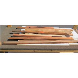 Koa Wood Ripping - Various Lengths (Some w/ Bark), 10 Pcs