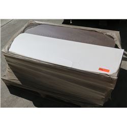 """Pallet of Mixed Espresso and White Melamine 3/4"""" Particle Sheets, Some Pre-Drilled"""