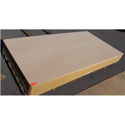 """Qty 15 (approx.) Mixed: Maple Melamine & Other Particle Sheets 1 1/8"""" (49X97)"""
