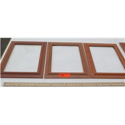 """Qty 3 Wood Frames (No Glass or Backing) 14.5""""x17.5"""""""