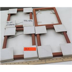 """4 Solid Koa Picture Frames 11.5""""x9.5"""" (for 8x10 pictures/artwork), No glass or backing"""