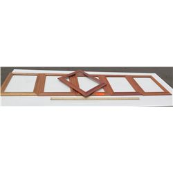 """6 Solid Koa Picture Frames 14.5""""x17.5"""" (has a few scratches), No glass or backing"""