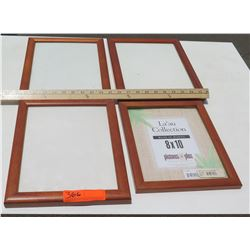 """4 Solid Koa Picture Frames, Various Sizes 8""""x10"""", 11""""x8.5"""" (has a few scratches)"""