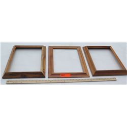 """3 Solid Koa Pictures Frames 1pc 14.5""""x17.5"""" and 2pc 13.5""""x16.5"""", No glass or backing"""