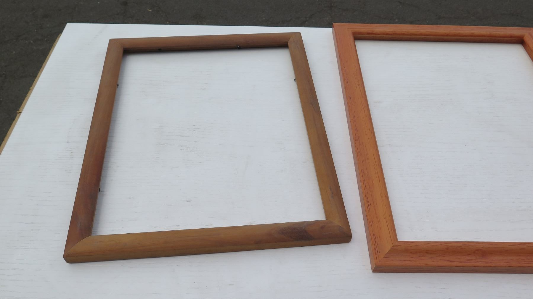 6 Solid & Koa Veneer Picture Frames, Various Sizes (no glass or backing)