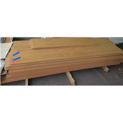 """Qty 34 (approx.) Maple Melamine Particle Sheets for Shelving, 3/4"""" (14""""X97"""", 14""""D) Not Pre-Drilled,"""