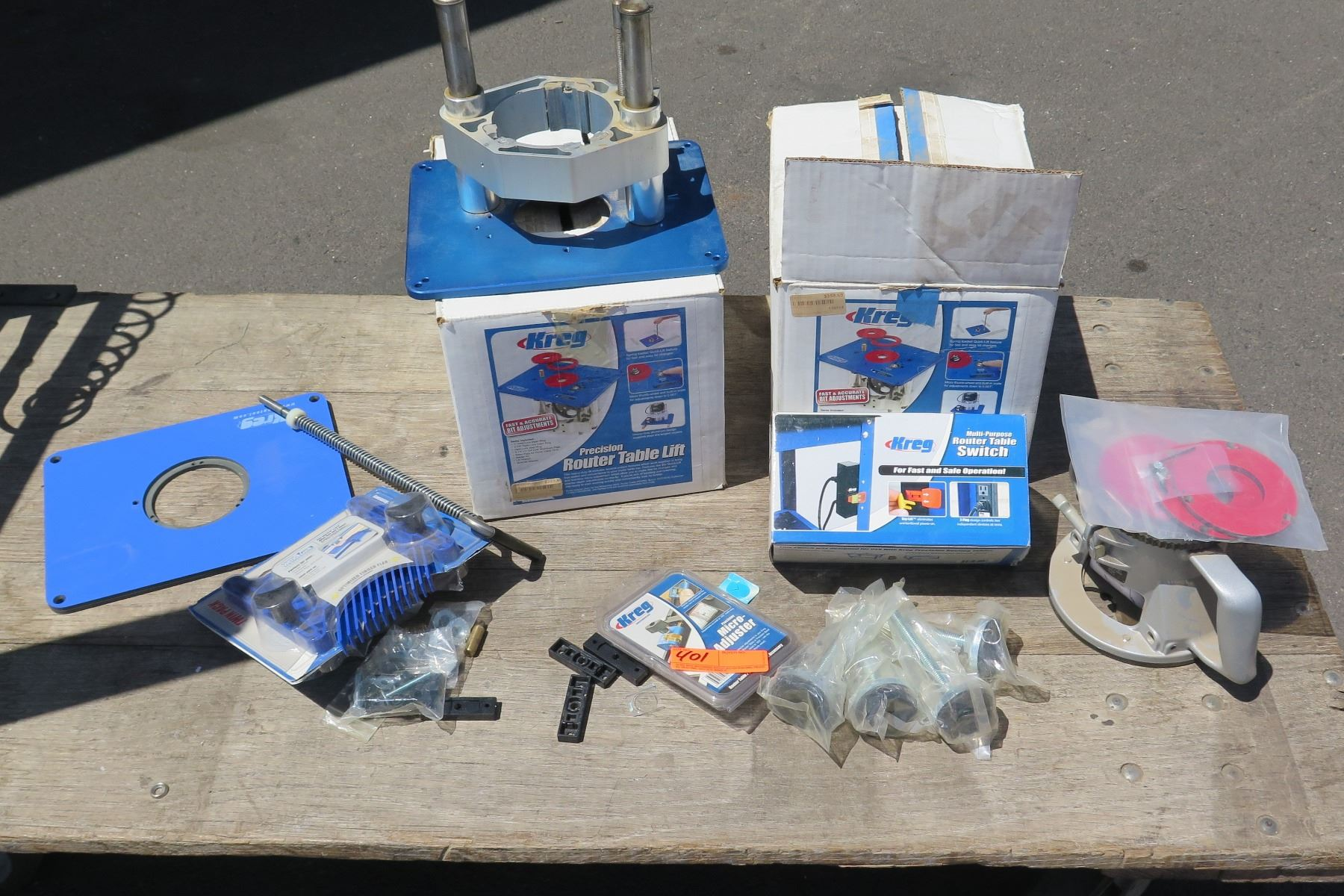 Kreg Router Accessories Table Lift Micro Adjuster Table Switch Etc