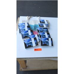 Retail Mdse: Wave Print Postcards (10 packs) and Canvas Aloha Tote