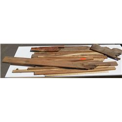 Koa Wood Bundle, Various Grades, Quality, Sizes, (all are 3 ft or longer), Approx. 15 pcs