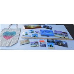 Hawaii Themed Metal Photographic Signs, Coasters and Canvas Aloha Tote