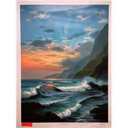 """""""Tropical Embrace"""" by Rudy Gonzalez, Canvas Giclee 36"""" x 27"""" Retail $650"""