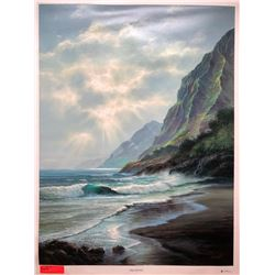 """""""Misty Morning"""" by Rudy Gonzalez, Canvas Giclee 35 3/4"""" x 27"""" Retail $650"""