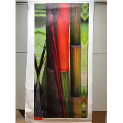 """Red Bamboo Canvas Giclee 21 1/4"""" x 45"""""""