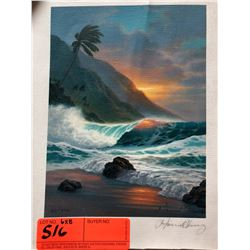 """by Howard Chung, Signed, Ltd. Ed. 37 of 995, Canvas Giclee 6"""" x 8"""""""