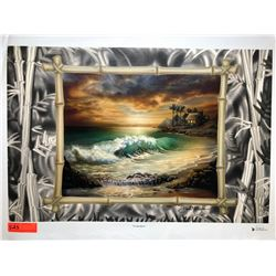 """""""Private Beach"""" by Dennis Matthewson, Signed, Ltd. Ed. 13 of 150, Canvas Giclee 30"""" x 20"""""""