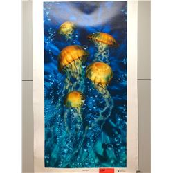"""""""Jelly Sea X"""" by Dennis Matthewson, Signed, Ltd. Ed. 54 of 250, Canvas Giclee 18"""" x 36"""""""