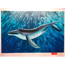 """""""Whale's Song"""" by Dennis Matthewson, Signed, Ltd. Ed. 12 of 250, Canvas Giclee 36"""" x 24"""""""