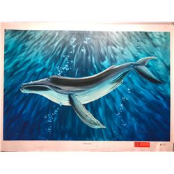 """""""Whale's Song"""" by Dennis Matthewson, Signed, Ltd. Ed. 13 of 250, Canvas Giclee 36"""" x 24"""""""