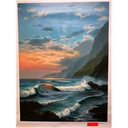 """""""Tropical Embrace"""" by Rudy Gonzalez, Canvas Giclee 36"""" x 27"""" Retail $600"""