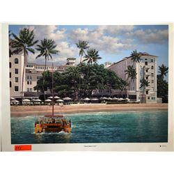 """Moana Beach Front"" by Rodel Gonzalez, Signed, Ltd. Ed. 18 of 350, Canvas Giclee 32"" x 24"""