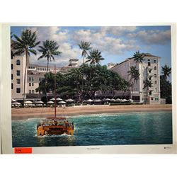 """Moana Beach Front"" by Rodel Gonzalez, Signed, Ltd. Ed. 17 of 350, Canvas Giclee 32"" x 24"""