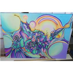 Psychedelic Art by Blaise Domino, Giclee, Stretched Canvas 56X39