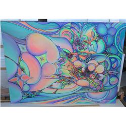 Psychedelic Art by Blaise Domino, Giclee, Stretched Canvas 54X40