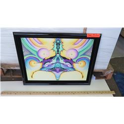 Framed Psychedelic Art by Blaise Domino, Giclee, 22.5X17.5
