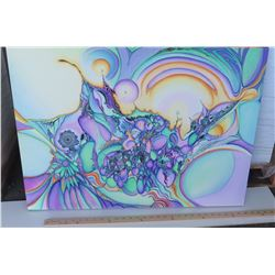 Psychedelic Art by Blaise Domino, Giclee, Stretched Canvas 32X24
