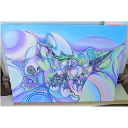 Psychedelic Art by Blaise Domino, Giclee, Stretched Canvas 29.5X22