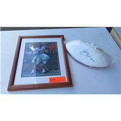 Autographed Sugar Bowl Football (Davone Bess) & Framed Picture