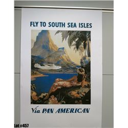 """""""Fly to South Sea Isle"""" by Lawler, Paper, 23"""" x 35"""" (qty 2)"""
