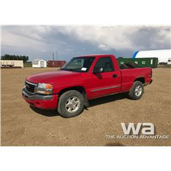 2006 GMC SIERRA 1500 PICKUP