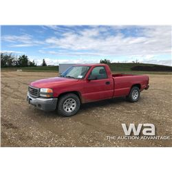 2005 GMC SIERRA 1500 PICKUP