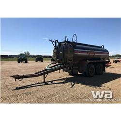 1992 CHASSIS T/A PUP TANK TRAILER FOR PARTS