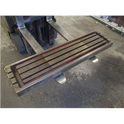 "Steel 3 Slot Milling Table, Overall: 48"" x 12"" x 4"""