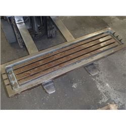 "Steel 3 Slot Milling Table, Overall: 51"" x 13"" x 4.75"""
