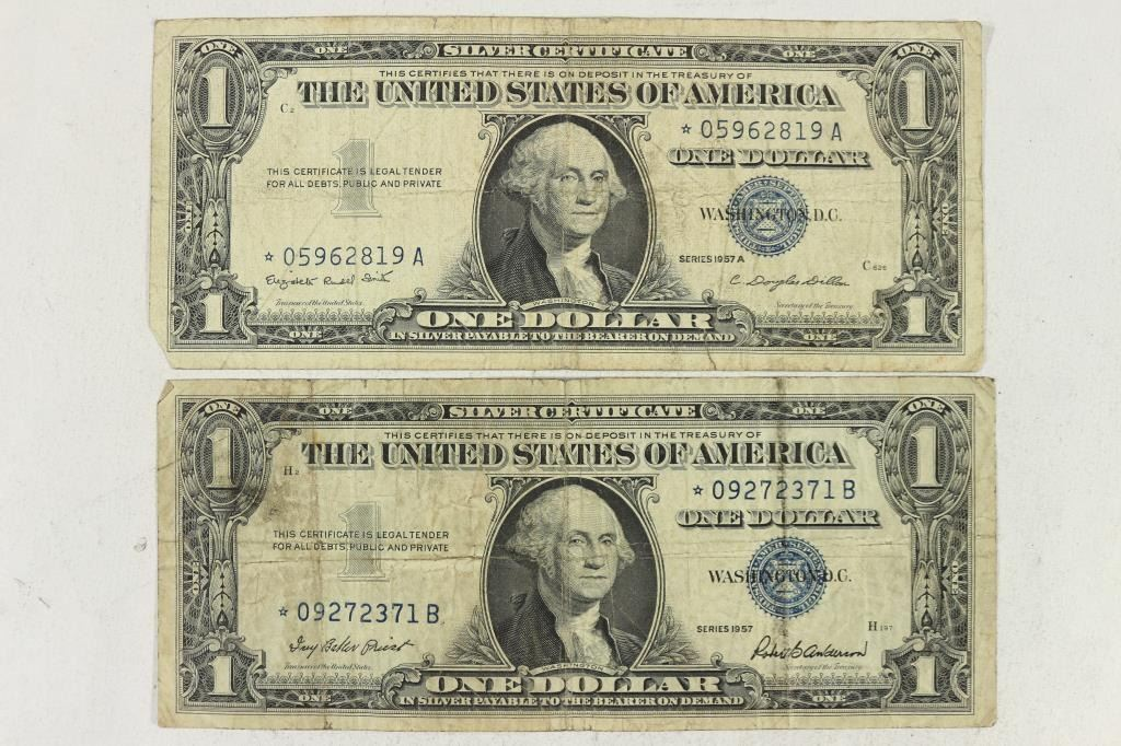 1957 1957 A 1 Silver Certificates Star Notes