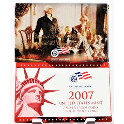U.S. 2007 Silver Proof Set with Presidential Dollars Set