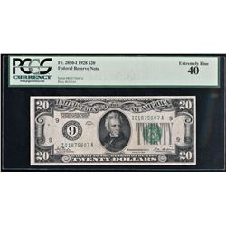 Fr. 2050-I 1928 $20 Federal Reserve Note XF 40